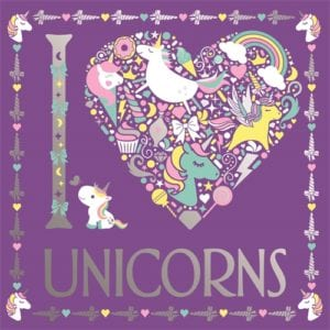 I Heart Unicorns Colouring Book