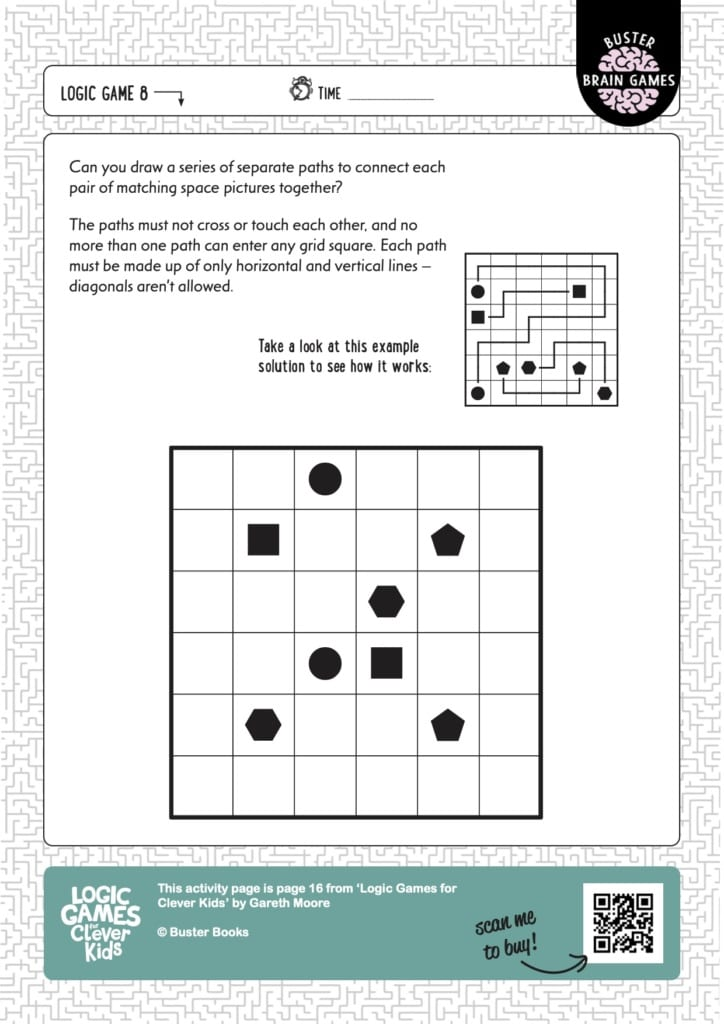 A free downloadable logic puzzle from the Clever Kids series