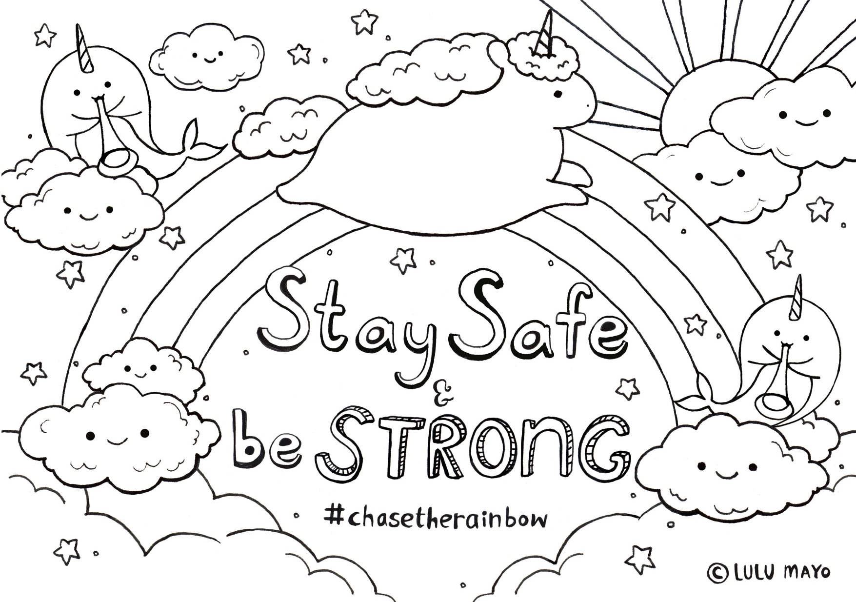 Free Stay Home, Stay Safe Word Coloring Page - Make Breaks | 1234x1755