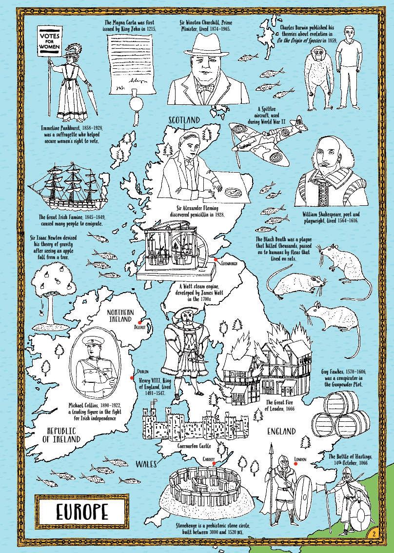 History a map colouring book michael omara books gumiabroncs Images