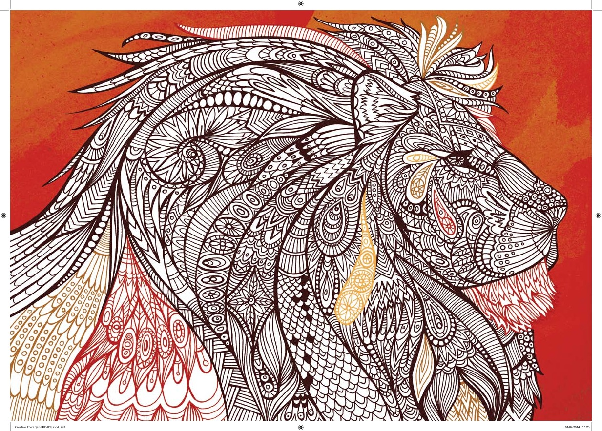Art therapy coloring book michael omara - The Creative Therapy Colouring Book