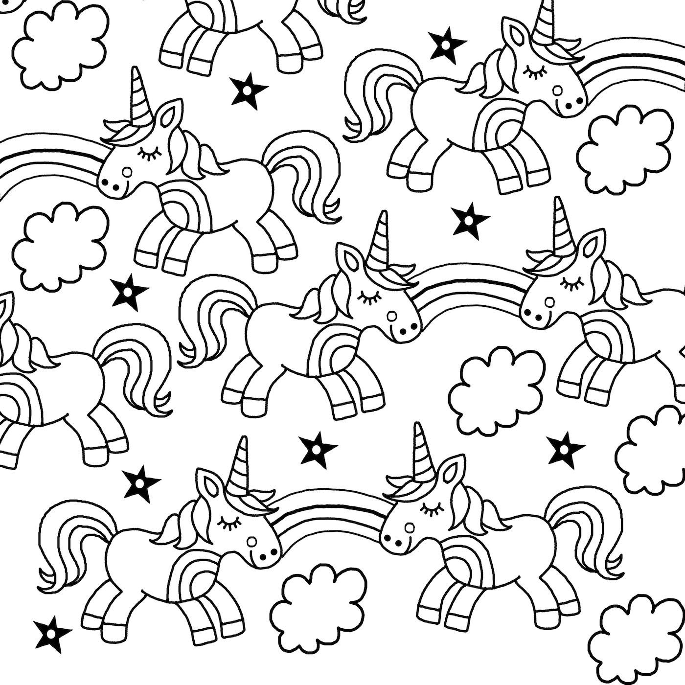 Downloadable unicorn colouring page - Michael O'Mara Books